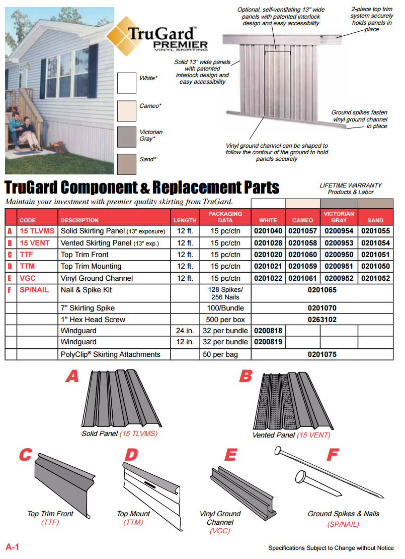 Mobile, Manufactured Home Skirting - Compton Products on